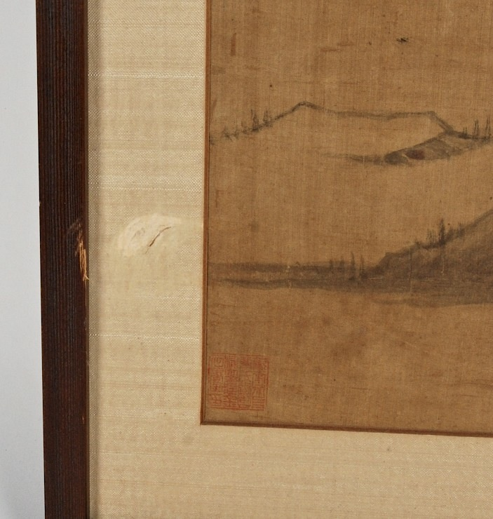 Antique Chinese Scrolls: ANTIQUE 18TH/19TH C. CHINESE SCHOOL SCROLL PAINTING ON