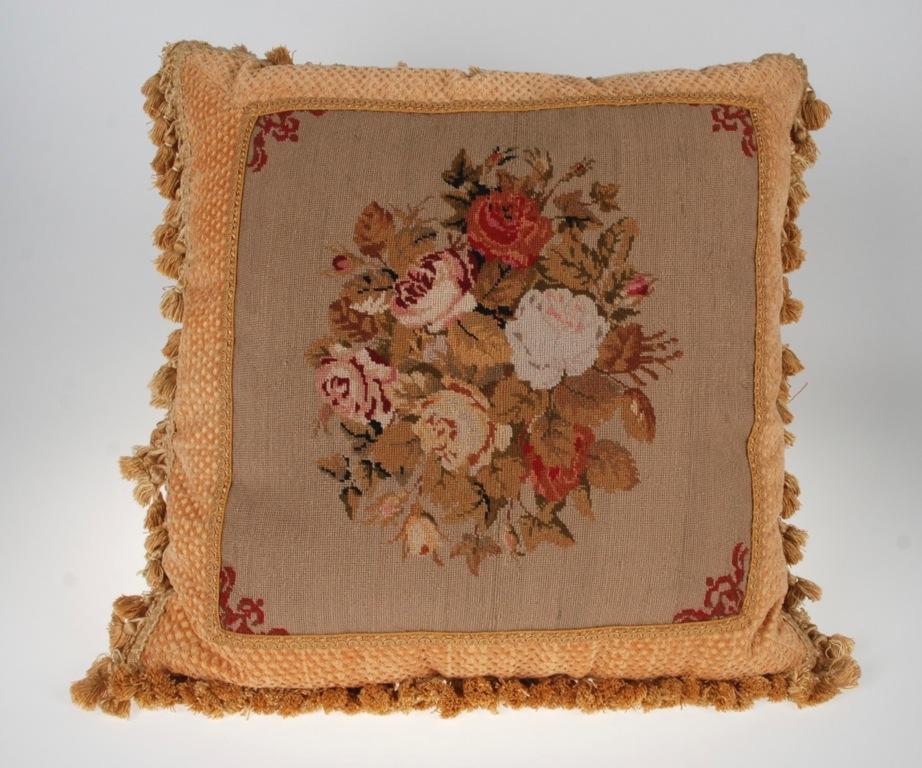 Decorative Down Pillows : VINTAGE AUBUSSON DECORATIVE DOWN FEATHER PILLOW 20