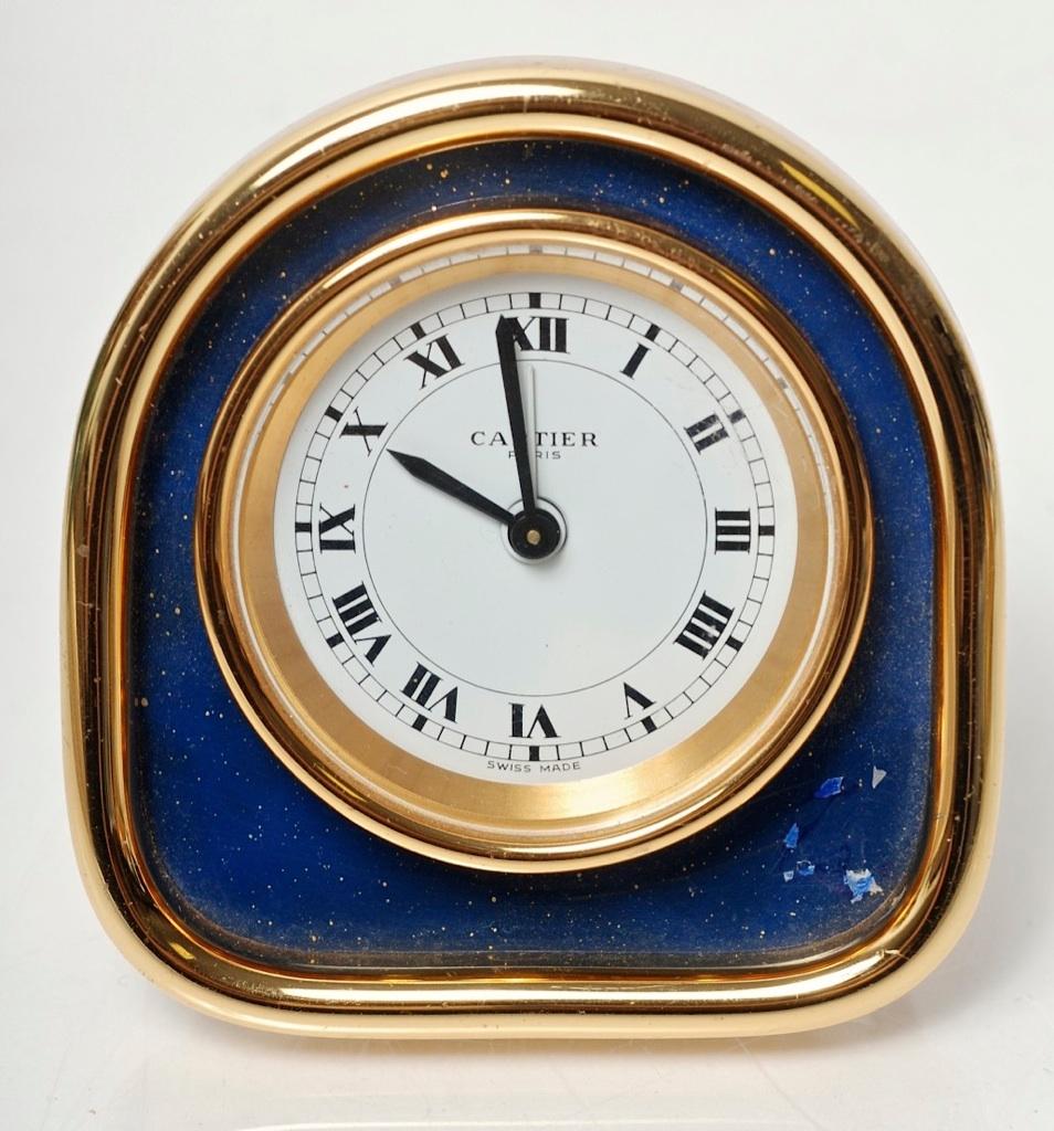Vintage Cartier Desktop Alarm Clock 7504 Made In France