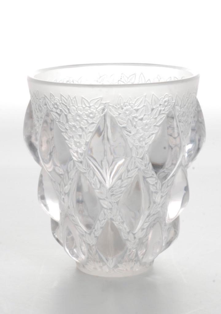 vintage r lalique france signed rampillon vase early 1900 s ebay. Black Bedroom Furniture Sets. Home Design Ideas