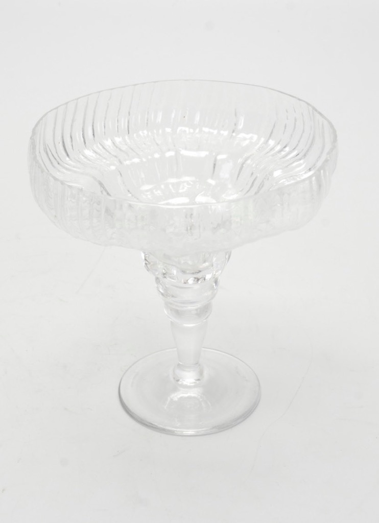 Vintage Rosenthal Studio Line Glass Compote Structure Pattern By