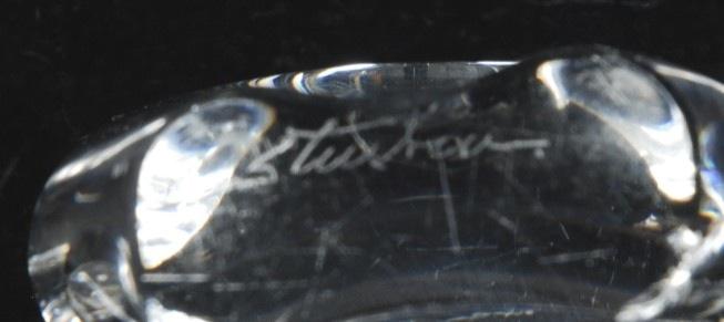 Vintage steuben coronet shallow centerpiece bowl ebay