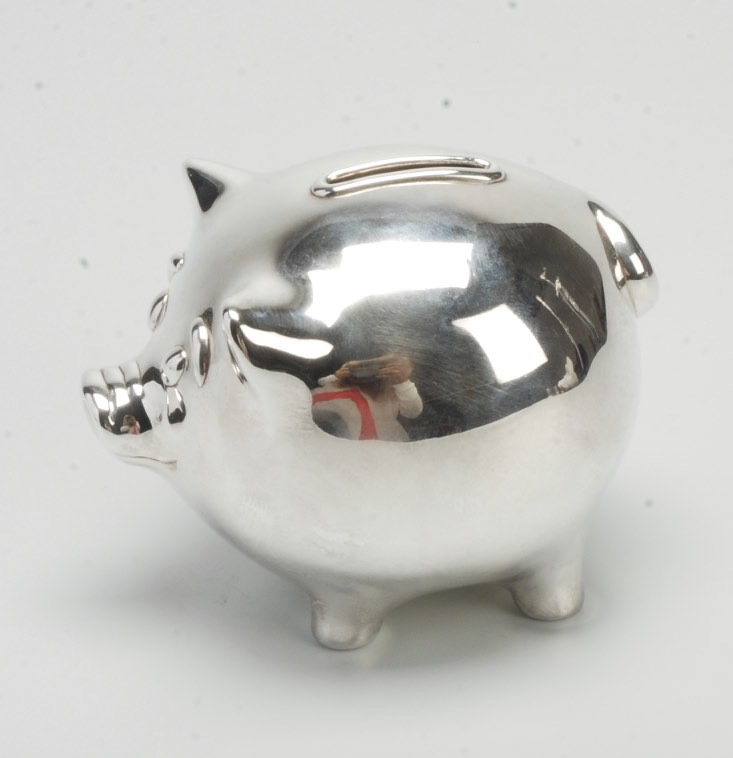 Vintage Tiffany Amp Co Sterling Silver Piggy Bank Made In